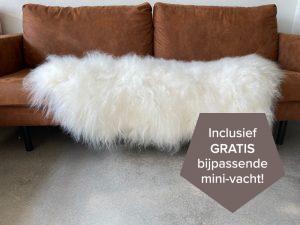 IJslandse schapenvacht wit XXXL 140 cm.