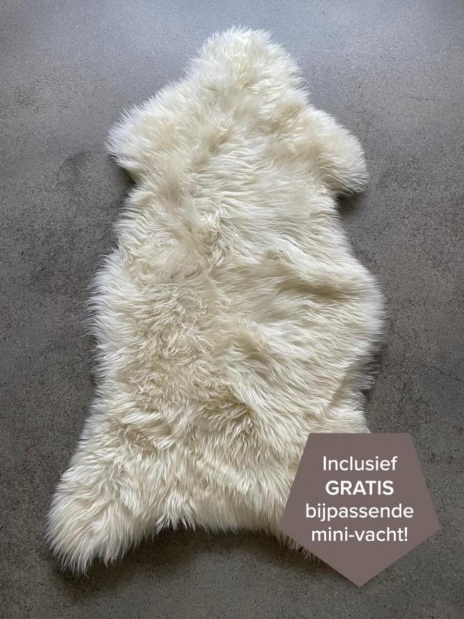 Nederlandse schapenvacht wit 110 cm.