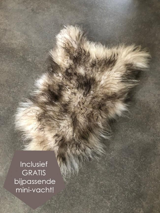 IJslandse schapenvacht bruin creme