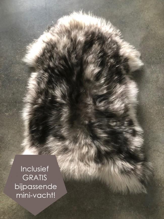 IJslandse schapenvacht gevlekt zwart
