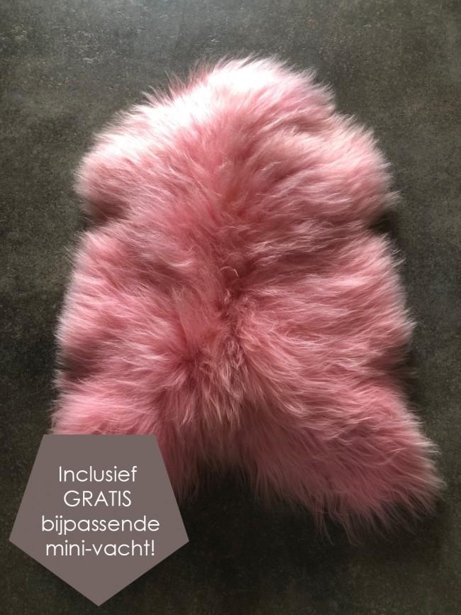 IJslandse schapenvacht roze XL