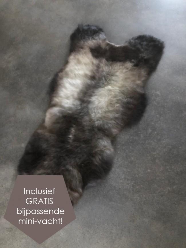 Nederlandse bruin grijze schapenvacht