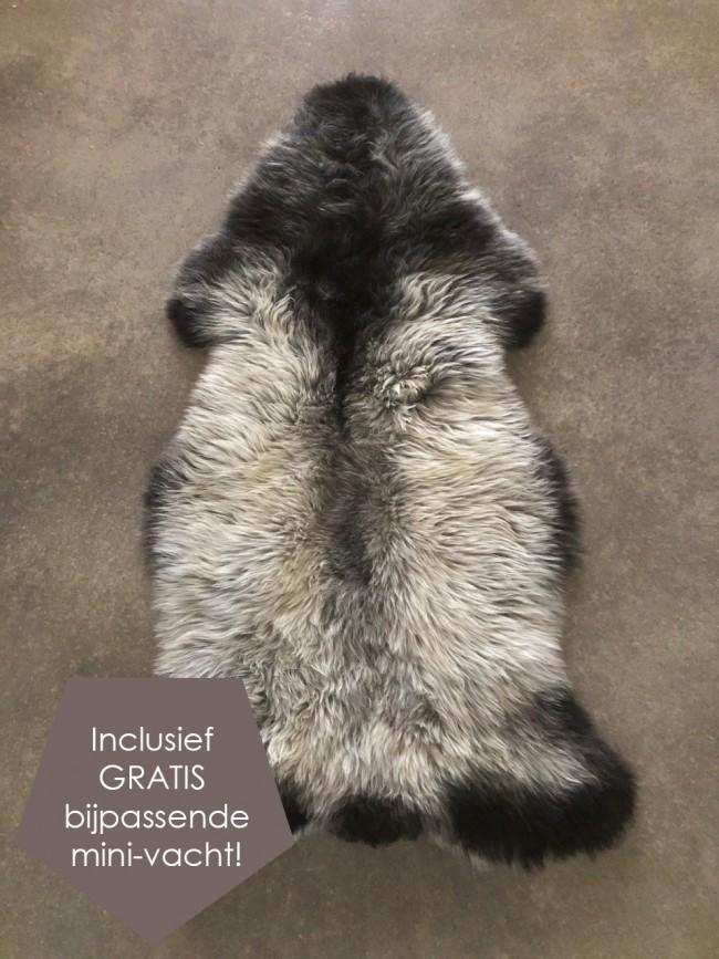 Nederlandse bruin zwart grijze schapenvacht