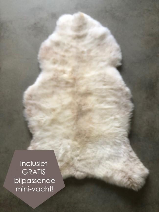 Nederlandse schapenvacht wit beige