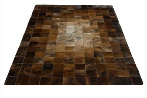 bruin rechthoekig patchwork vloerkleed