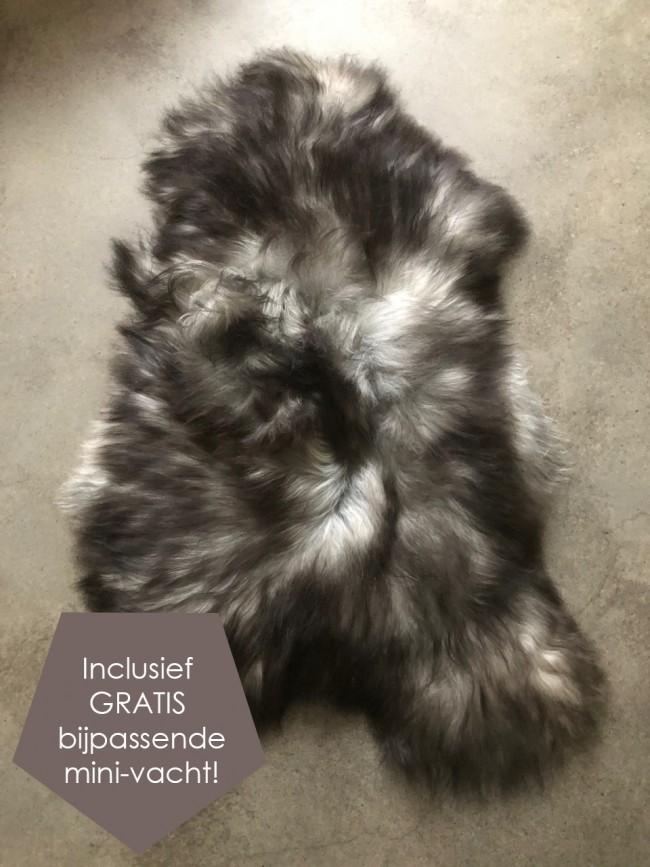 IJslandse schapenvacht zwart bruin