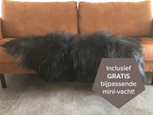 Zwart grijze IJslandse schapenvacht