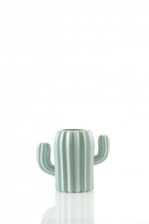 cactus mintgroene vaas bloem