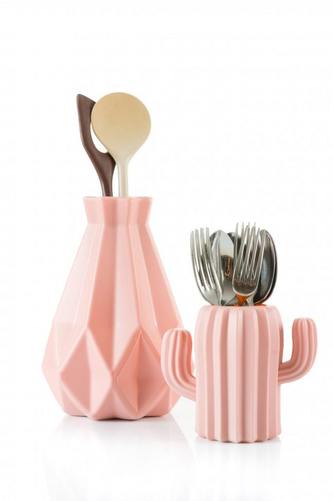 design bak keuken gereedschap roze