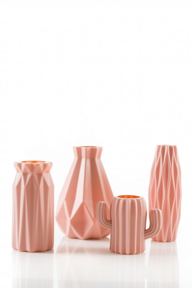 oud roze bloemvaar vaas