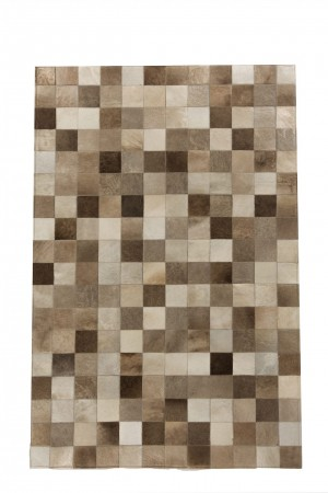 taupe patchwork vloerkleed