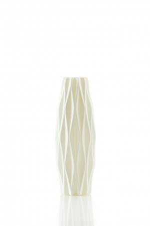 wit plastic bloemenvaasje