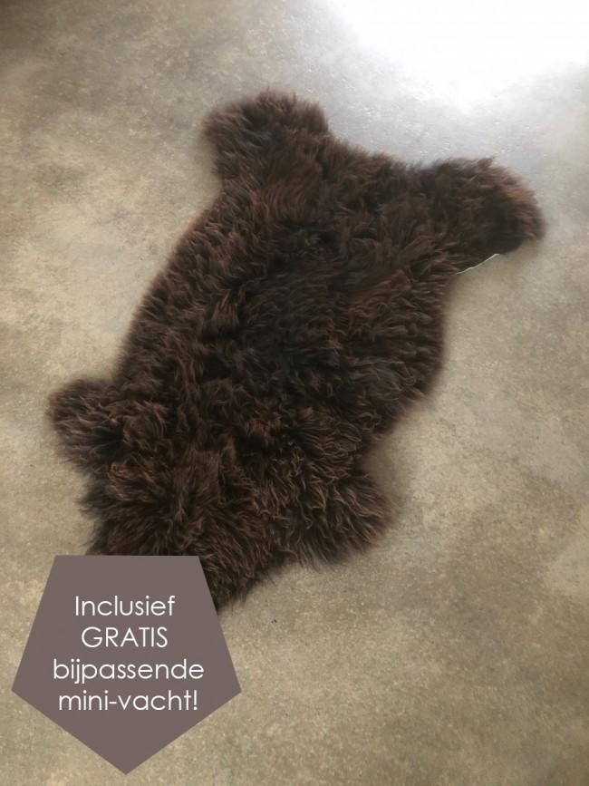 Nederlandse schapenvacht bruin