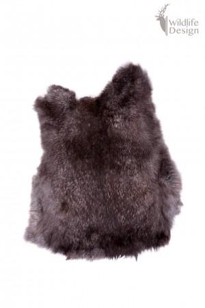zwarte konijnenvacht